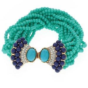 NEW Kenneth Jay Lane Cabochon Turquoise Bracelet